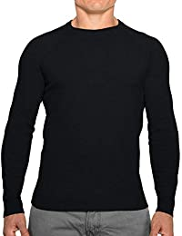 Perfect Slim Fit Crewneck Sweaters for Men   Lightweight Breathable Mens Sweater   Soft Fitted Pullover for Men
