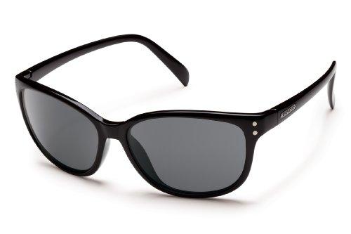 Suncloud Flutter Polarized Sunglasses, Black Frame, Gray - Smith Sunglasses Warranty