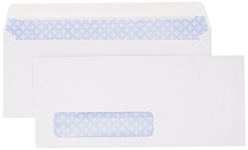 AmazonBasics #10 Security-Tinted Envelopes with Peel & Seal, Left Window, White, 500-Pack - AMZA26
