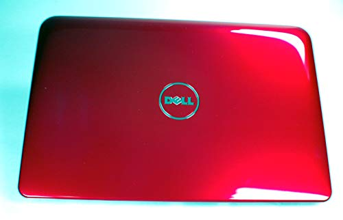 NEW Genuine OEM Dell Inspiron MINI 10 1012 Laptop 10.1 Inch Red LCD Visual Interactive Rear Back Cover Top Monitor Panel Case Lid Assembly W/Antenna 8453V Inspirion Insprion Housing Case ()