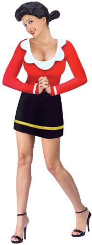 Olive Oyl Costume - Medium/Large - Dress Size 10-14 (Olive Oyl Fancy Dress)