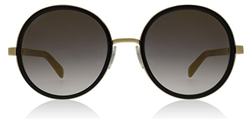 Jimmy Choo Andie/N/S 0NQ Gold / Black Andie/N/S Round Sunglasses Lens - Sunglasses Round Jimmy Choo