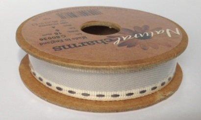 Berisfords Vintage Stitch: 4m x 15mm: Grey