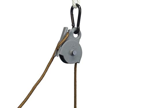 - Locking Pulley 15 ft.Nylon Rope. Holds 100 lbs Without Slipping.Made in The U.S.A.