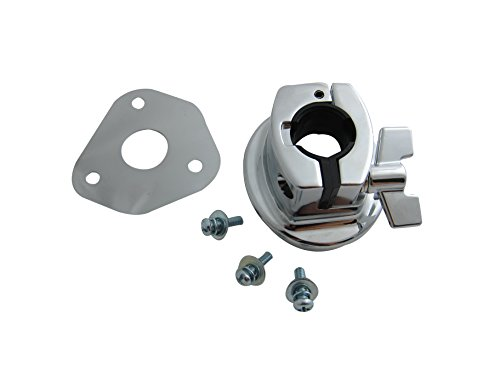 Goedrum Bass Drum Tom Mount Bracket with Screws and Base Plate for Drum Shell 15~18mm