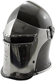 OSCAR HANDICRAFT Medieval Barbute Helmet Role Play Knight Helmet ~Fully Functional Medieval Helmet Solid Steel