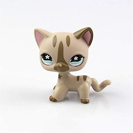 Pet Shop Juguetes LPS Raras de pie Forma máscara de Gato de Pelo Corto (Elegir su Gato) para niños Regalo 1pc, 468: Amazon.es: Hogar