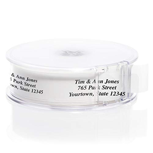 Clear Rolled Address Labels with Elegant Dispenser - Roll of 500]()