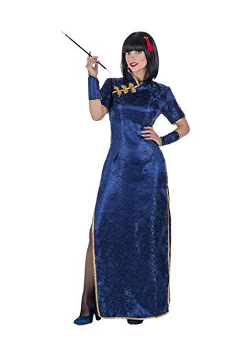 Banyant Toys Disfraz China Azul Qi-pao Mujer: S