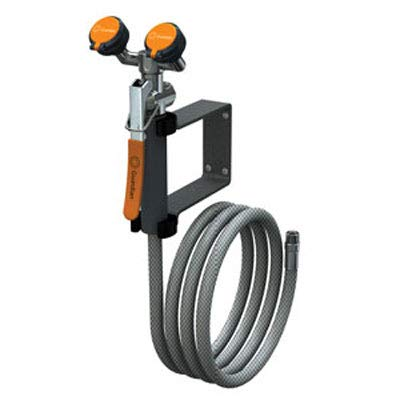 Guardian Equipment G5026 Wall-Mount Eyewash/Drench Hose Unit with Squeeze-Open - Mounted Drench Wall