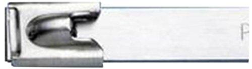 Panduit MLT4H-LPAL Pan-Alum Cable Tie, Aluminum, Aluminum Color, 50lbs Min Tensile Strength, 4.0'' Max Bundle Diameter, 0.50'' Min Bundle Diameter, 0.012'' Thickness, 0.31'' Width, 14.3'' Length (Pack of 50) by Panduit (Image #2)