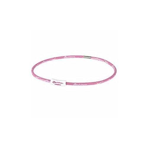 Phiten X30 Tribal Titanium Necklace, Pink/White, 18 Inch