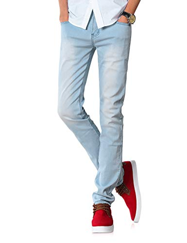Demon&Hunter 808 Series Men's Skinny Slim Jeans DH8008(30)