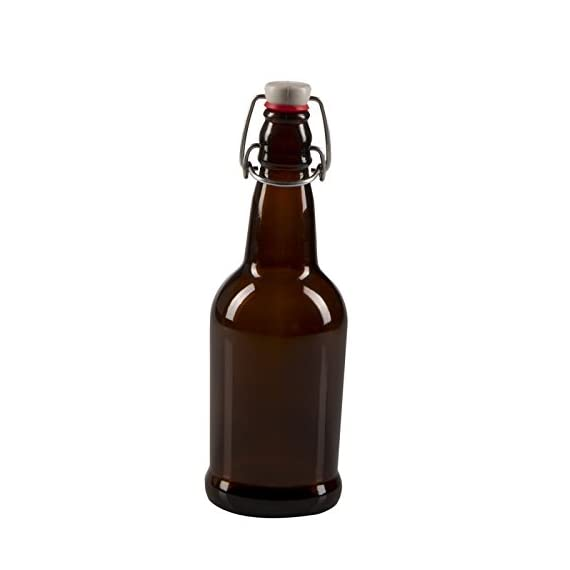 CASE OF 12 - 16 oz. EZ Cap Beer Bottles - AMBER 1 16 oz. EZ Cap Amber Beer Bottles Case of 12 Easy to use Swing Top seal, allows repeated opening and closing