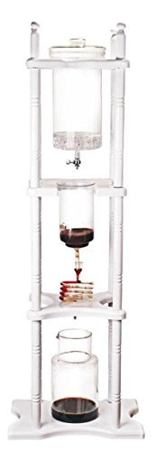 Iced Coffee Dripper Cold Brewer Maker Glass White Stand 25 Cups (Maker Yama Iced Coffee)