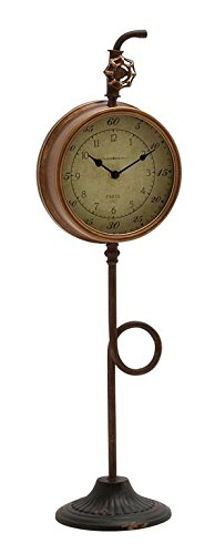 Deco 79 Metal Table Clock, 8 by 29-Inch - Wall Decoration Assortment