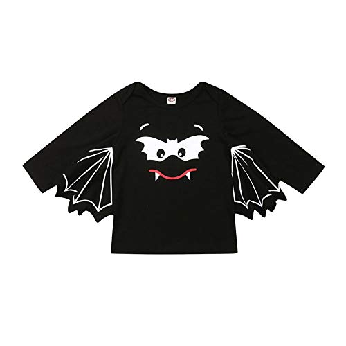 Matching Sister Halloween Costumes (Rtnnsbbfcm Infant Toddler Baby Boy Girl Halloween Costumes Dolman Sleeve Bat Wing Romper T-Shirt Sister Matching Outfit)