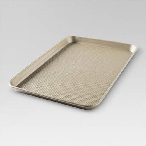 Gold Cookie Sheet Jumbo Nonstick Steel Oven Bakeware Pan 12''x17''