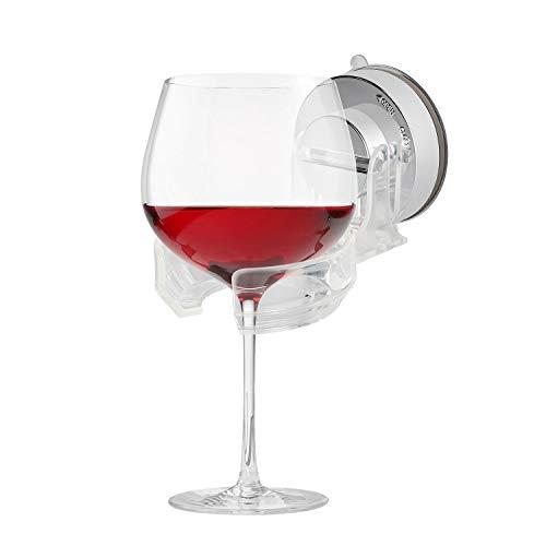Envysun Wine Glass Shower Holder Suction Cup Beer Holder for Shower Bathtub