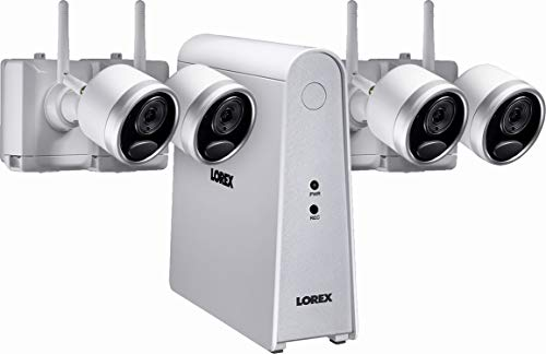 Lorex LHWF16T1C4 6-Channel, 4-Camera Indoor/Outdoor Wire Free 1080p 1TB DVR Surveillance System White