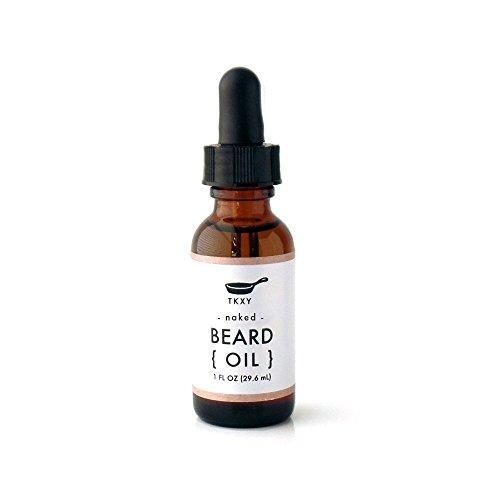 Organic Beard Oil - Naked (Fragrance-Free) (1 fl oz) by Tiny Kitchen Soap Co.