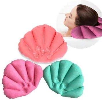 Bathtub Accessories Bathtub Pillows - Bathroom Products Home Inflatable Pillow Cups Shell Shaped Neck Bathtub Cushion Random Color Accessories - 1 x Spa Inflatable Pillow - - Amazon.com
