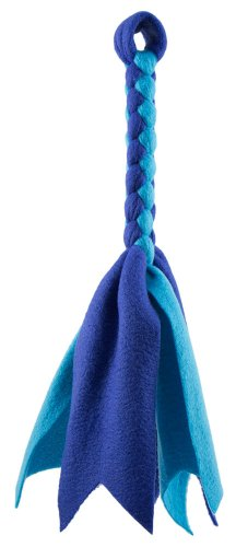 Squishy Face Studio Braided Fleece Lure Toy for Dogs, Blue/Aqua