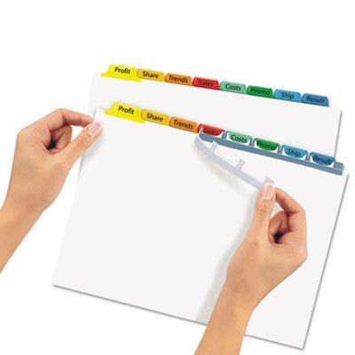 Index Maker White Dividers, Multicolor 8-Tab, Letter, Sold as 1 Set, 25PACK , Total 25 Set