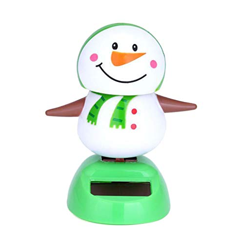 Armfer-household supply Solar Powered Dancing Toys Christmas Snowman Desk and Dashboard Décor Sturdy Plastic Dancer Ornament Toy Durable Car Windowsill Decorations Best Gift