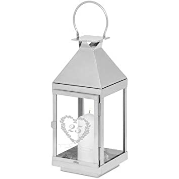 Gifts 24: Personalised Wedding Lantern 25 Years Silver Wedding ...