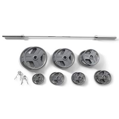 Gold's Gym 300 lb Olympic Barbell Weight Set