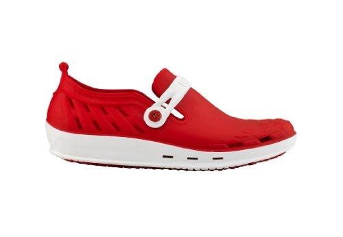 WOCK Unisex-Erwachsene Nexo Clogs Weiß/Rot