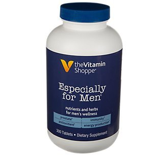 The Vitamin Shoppe Especially for Men Multivitamin, Nutrient s Herbs for Men s Wellness, Antioxidant That Supports Energy Production, Immunity Prostate Health 300 Tablets