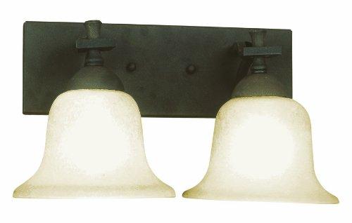 Design House 511774 Ironwood 2 Light Wall Light, Statuary Bronze