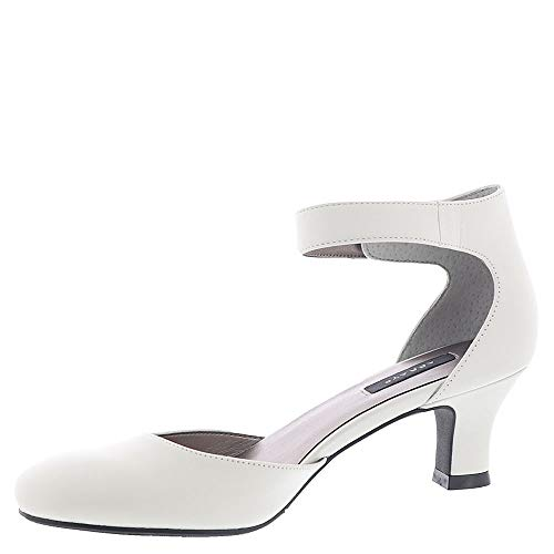 Array Womens Charlie Leather Closed Toe Ankle Strap D-Orsay Pumps (Renewed)
