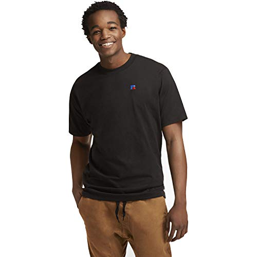 - Russell Athletic Heritage Men's Baseliner Heavyweight Cotton T-Shirt, Black, L