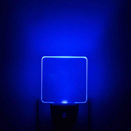 Bright Blue Glow, Auto ON/OFF Plug In LED Night Light with Dusk to Dawn Sensor [Pack of 2]