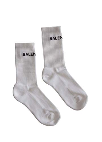 Luxury Fashion   Balenciaga Man 530580472B49060 White Elastane Socks   Season Permanent
