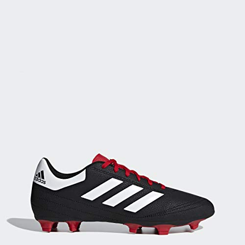 adidas Men's Goletto VI FG Shoes, Black/White/Scarlet, 7 M US (7 Soccer Adidas Cleats)