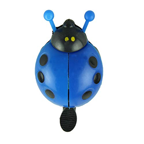 Glumes Kid Funny Ladybug Cycling Ride Bike Ring Bell Kids Bike Bell, Cute Ladybug Bicycle Warning Bell for Boys Girls Toddler, Red, Rose Red, Blue and Yellow