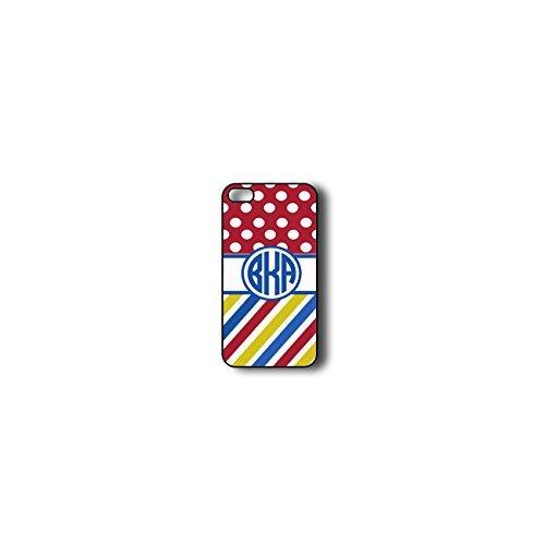 Krezy Case Monogram iphone 4 Case, Colorful Chevron Pattern with polka dots Monogram iphone 4 Case, Monogram iphone...