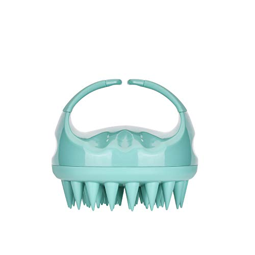 Vebiys Upgraded Hair Scalp Massager Shampoo Brush, Soft Silicone Care Comb For Hair Cleaning And Rejuvenating (Green)