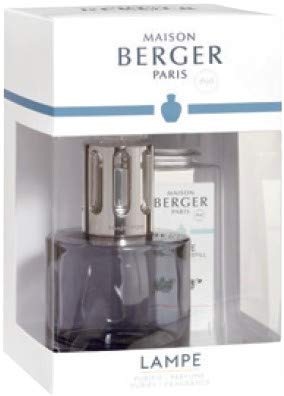 Maison Berger Lamp - Pure Grey Gift Set with 180ml Fresh Eucalyptus