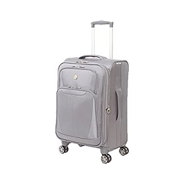 SwissGear Baden 20  Expandable Spinner Suitcase, Silver