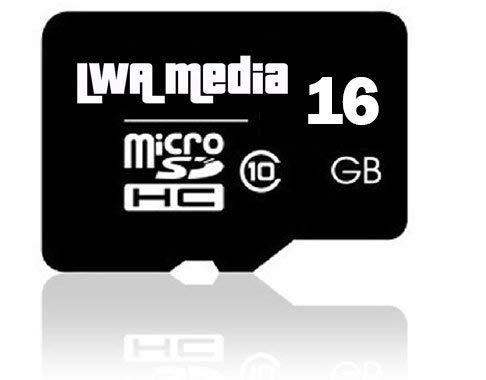 Lwa media –  16 GB di memoria Micro-SD GB (classe 10 –  Quick Speed) Full HD Video recording, Perfect memoria Smart Phone.
