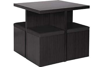 Hygena Boston Spacesaver Table And 4 Chairs   Bla