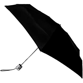 Totes Micro Umbrella, Black, One Size