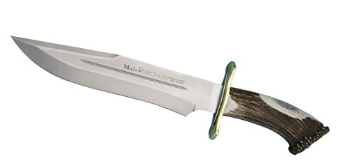 Muela MAGNUM-26 Red Stag Horn Handle Hunting Knife with Leather Sheath