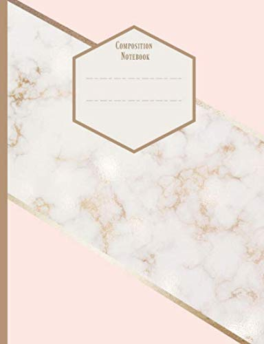 Composition Notebook.: Rose Gold Marble. College Ruled Lined Paper. Ideal For Students.