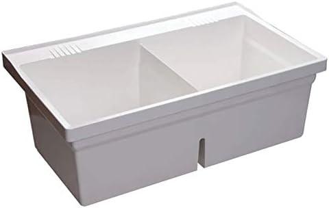 Proflo Pflt4024w Double Basin Wall Mounted Laundry Sink Kitchen Sinks Amazon Canada